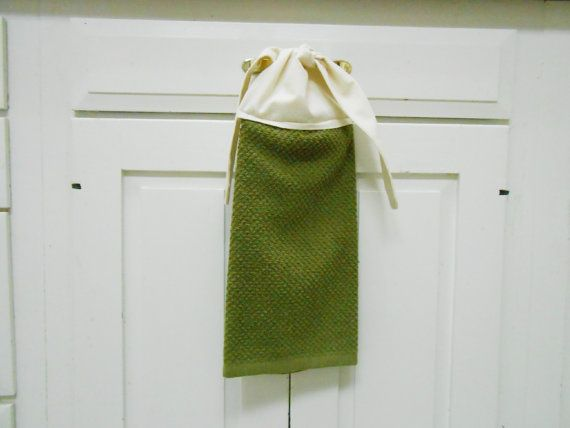 Awesome Kitchen Hand Towel Tie On Towel Towel With Ties By AkornShop, $6.95