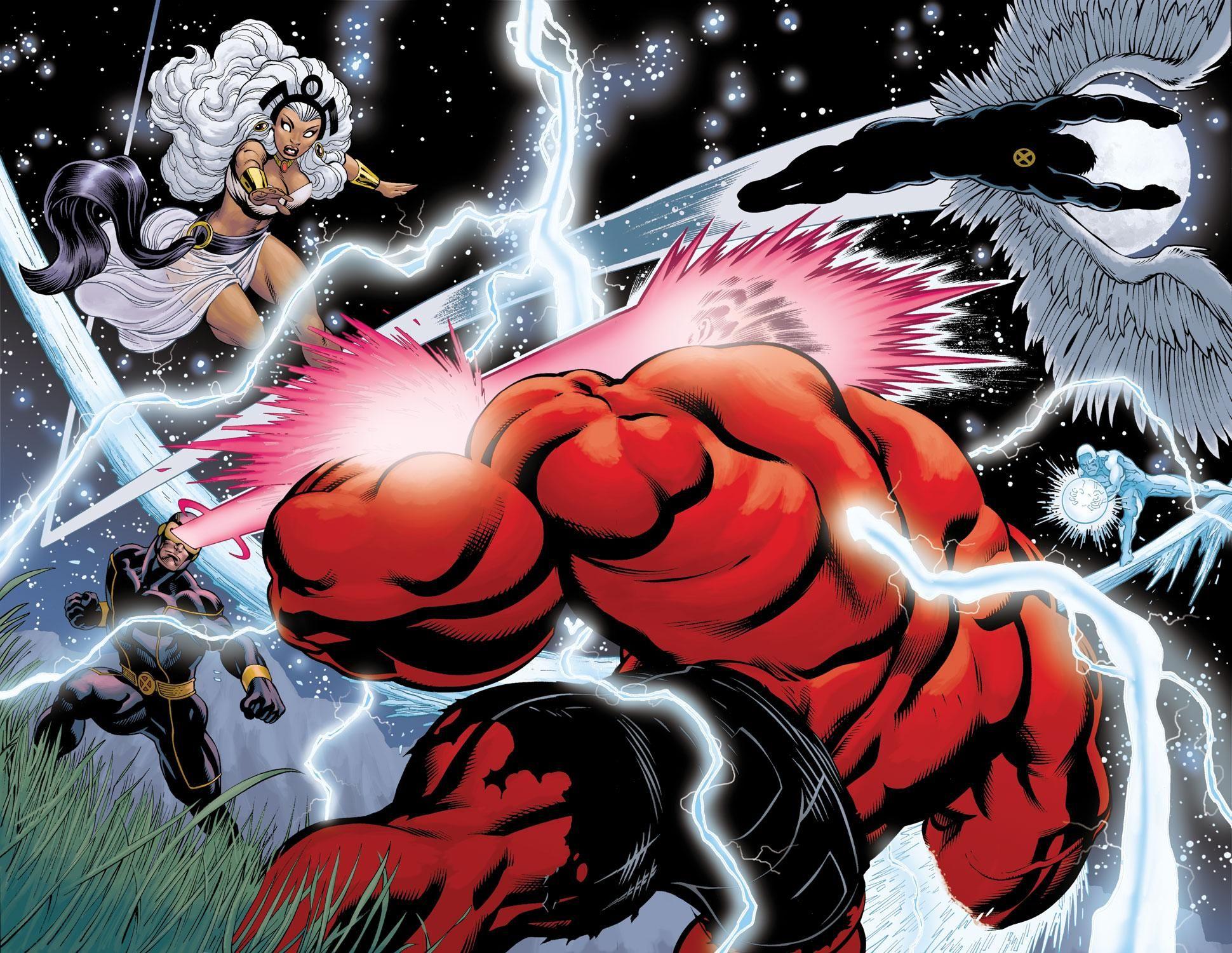 Red Hulk Vs X Men By Ed Mcguinness Red Hulk Comic Books Art American Comics