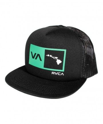 3063f472f24ddf Men's RVCA Hawaii Trucker Hat - Island Square; Color Options: Navy and  Black. $20.00 Available online at www.islandsnow.com and at the Island Snow  Hawaii ...