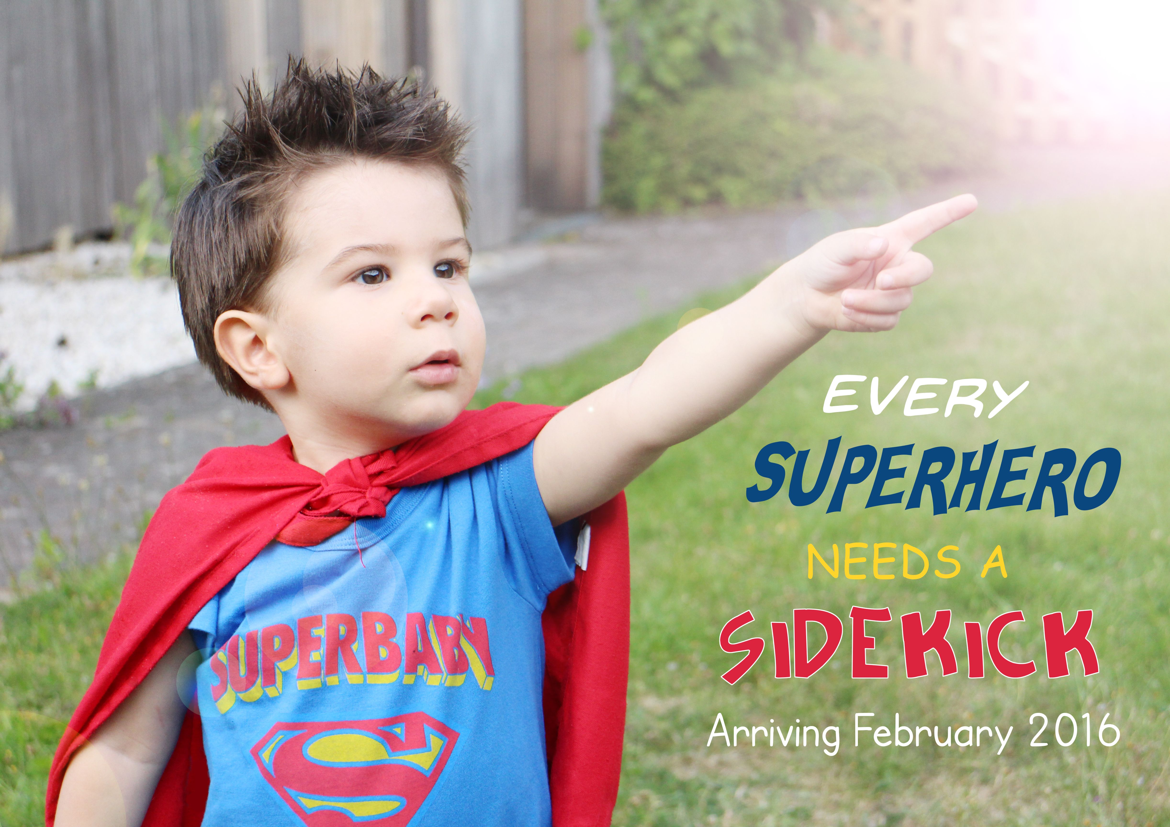 Baby 2 Announcement Every Super Hero Needs A Sidekick Baby 2 Announcement Superhero Announcement