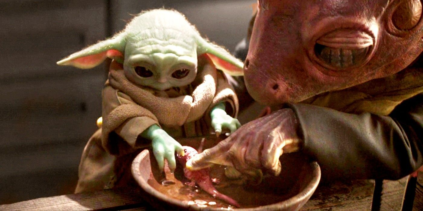 The Mandalorian Fixes Baby Yoda Eating Frog Lady S Eggs In 2021 Mandalorian Star Wars Characters Yoda Star Wars Sewing