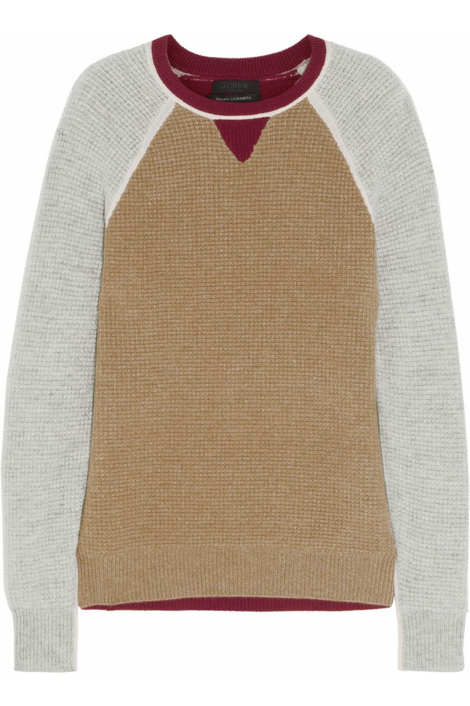 J.Crew | Paxton waffle-knit cashmere sweater | NET-A-PORTER.COM I ...
