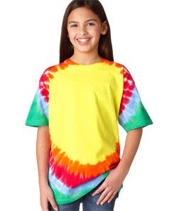 Gildan Tie-Dye Youth Teardrop Tee 74B Tear Drop Rainbow