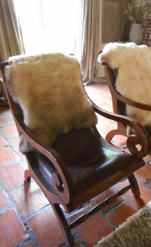 Prachtige oude rokersstoel met leer