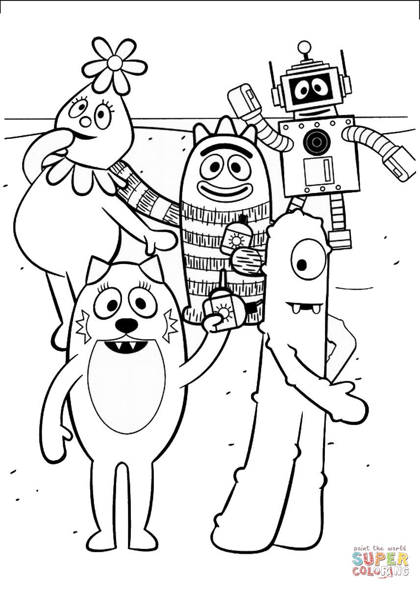 Dj Lance Coloring Pages Yo Gabba Gabba Super Coloring Pages Dance Coloring Pages [ 1200 x 857 Pixel ]
