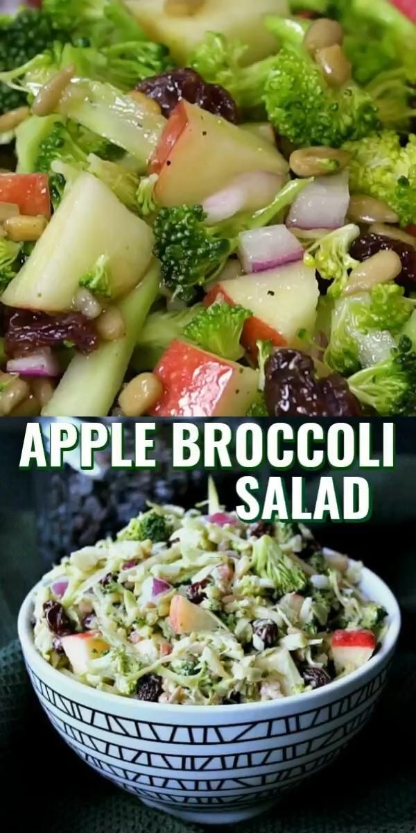 Photo of Broccoli Salad Recipe with Apples