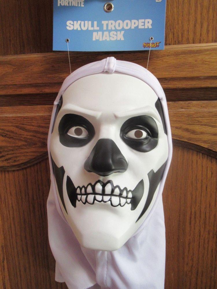 New Authentic Fortnite Hooded Skull Trooper Halloween Costume Mask