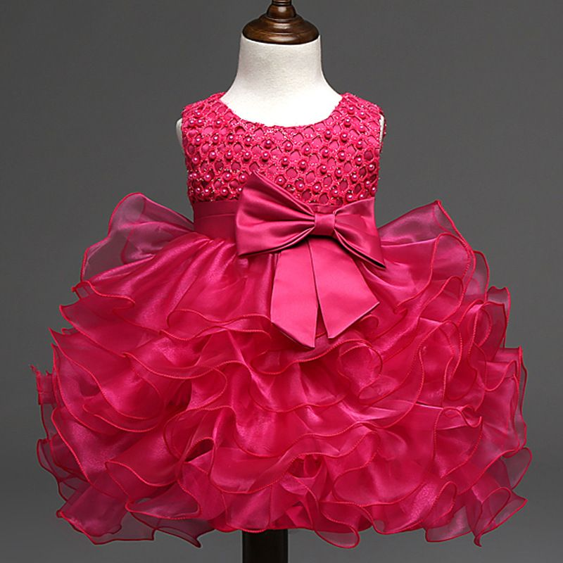 b40eccb6f6bca Beautiful Pearl Bow Flower Girl Party Pageant Dress //Price: $37.12 ...