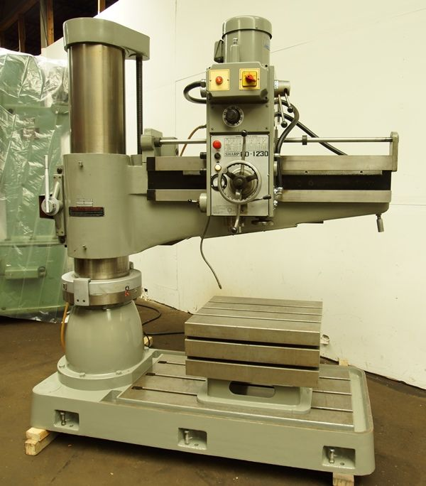 Sharp Rd 1230 11 3 16 Column X 48 Arm Radial Drill 4mt Taper Power Elevation 5hp Fob Mn Ex Cond Machinery For Sale Machine Shop Drilling Machine