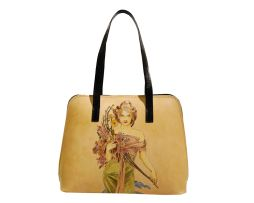 Luxusná ručne maľovaná kožená kabelka