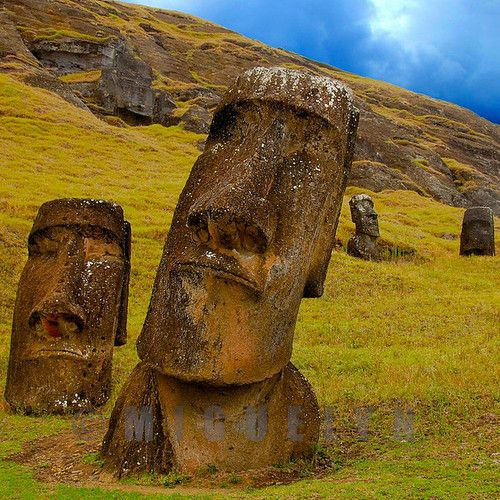 Moais in Rapa Nui, Chile