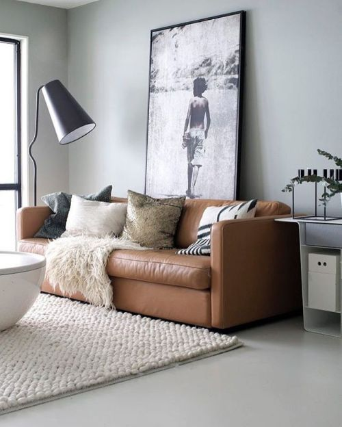 Livingroom Couch Grey Caramel Black White Art Architecture And Home Decor Leather Living Room Furniture Living Room Leather Brown Couch Living Room #white #sofa #living #room #ideas