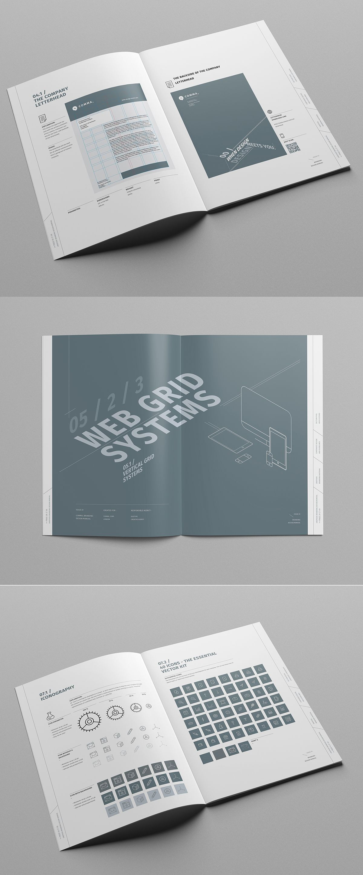 Brand Manual on Behance | Brand Guideline | Pinterest | Brand manual ...