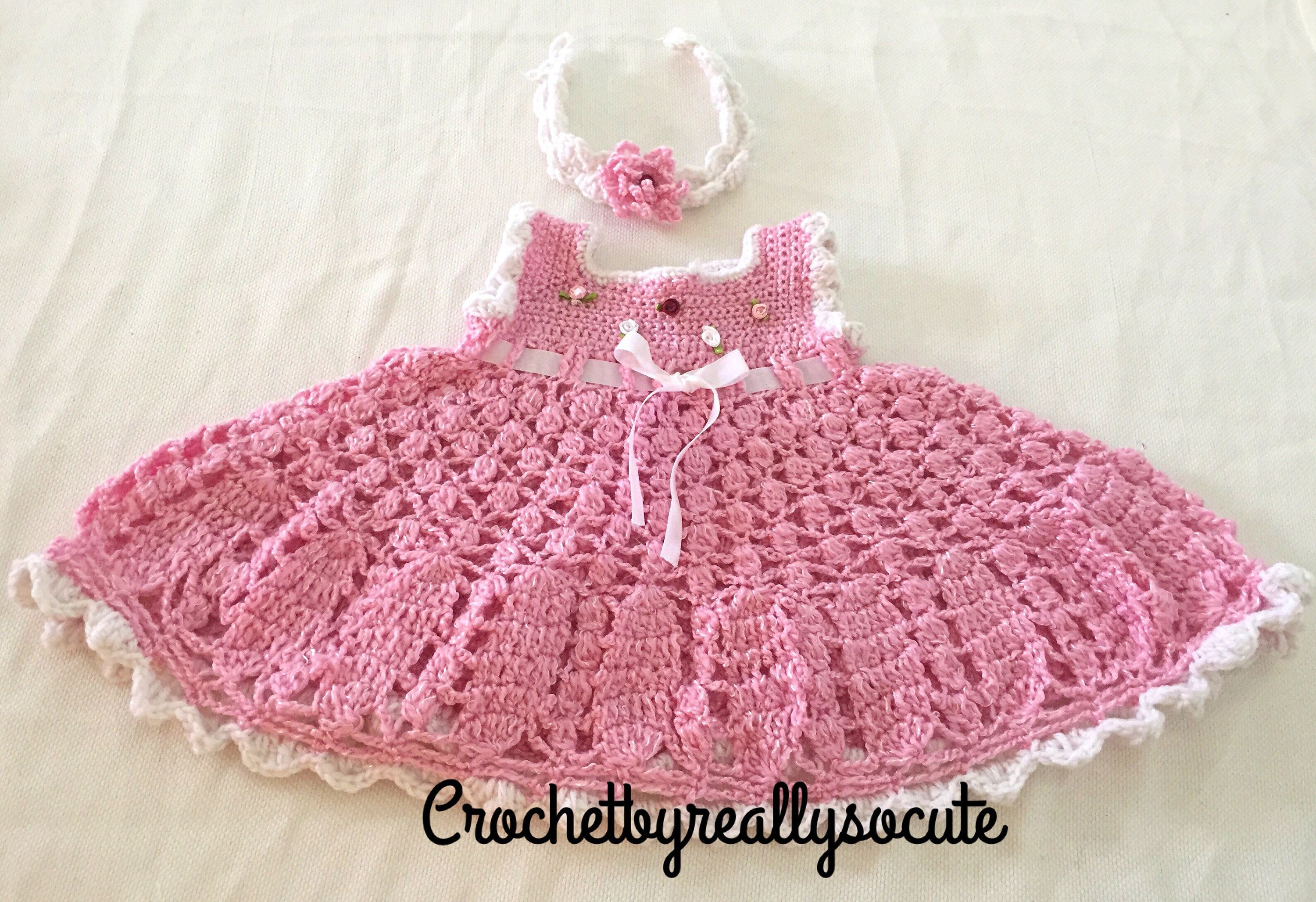 Pink dress baby   month baby dress pink baby dress and headband baby girl dress