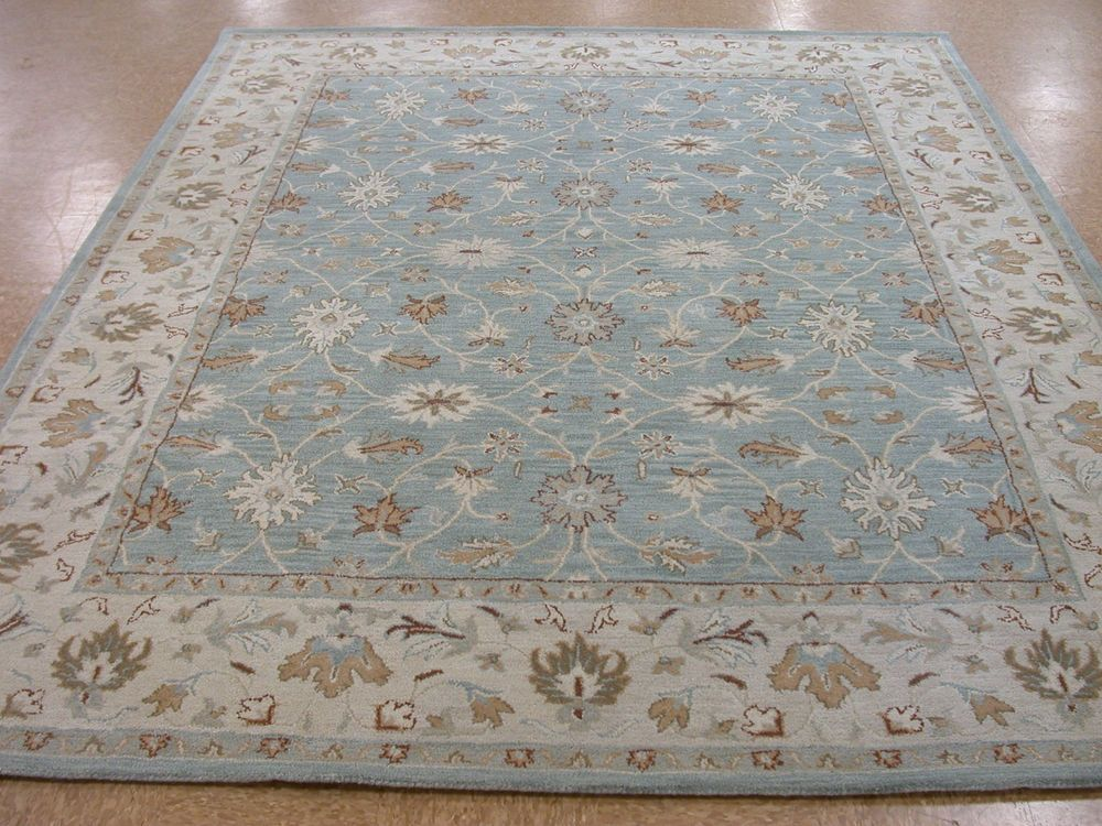 9 X 12 Pottery Barn Malika Blue Persian Style New Hand