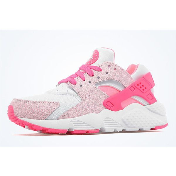 73266050399c NIKE AIR HUARACHE GS (PINK POW) Sneaker Freaker ❤ liked on Polyvore  featuring shoes and sneakers