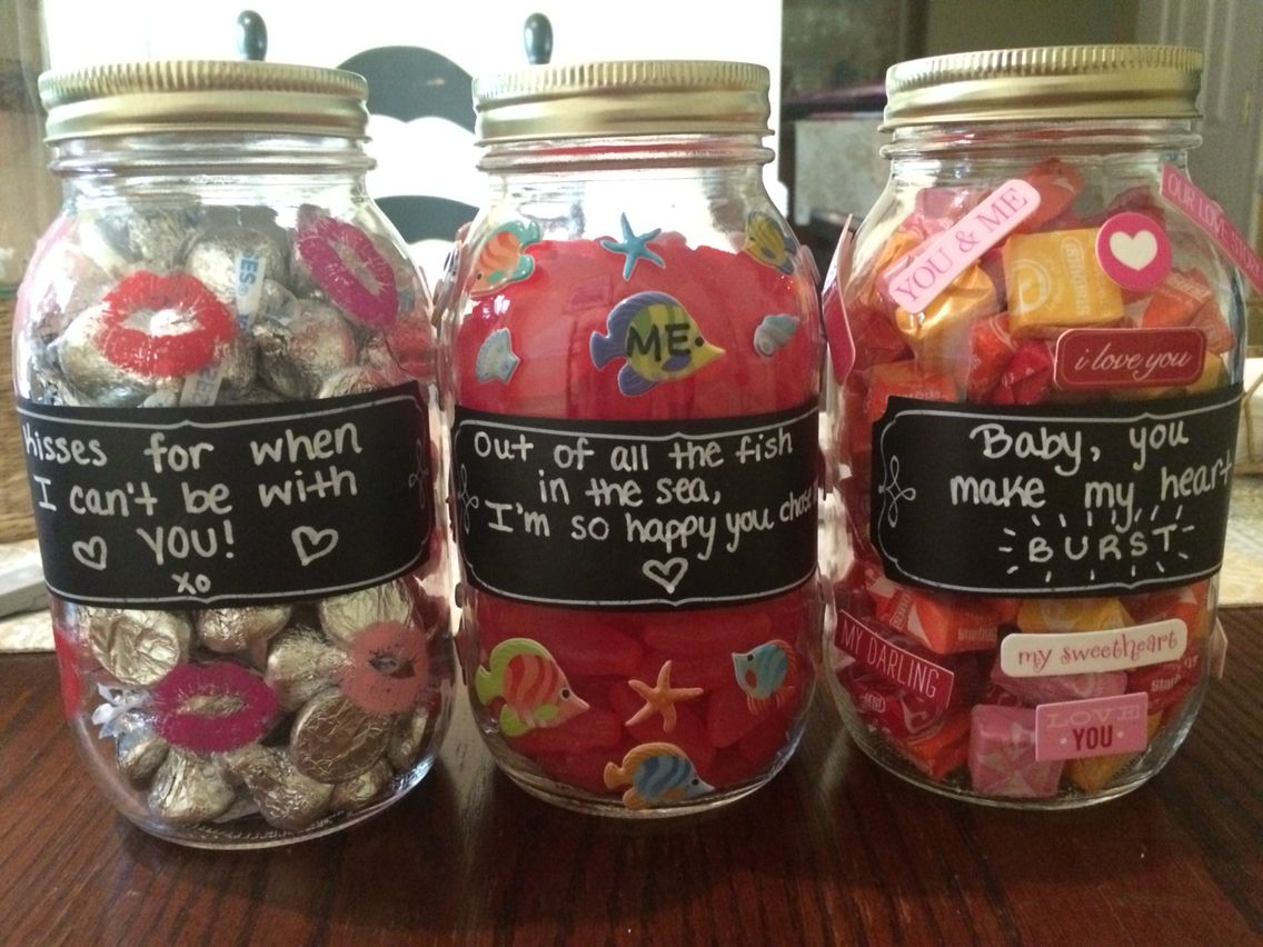 Candy Jars For Boyfriend S Gift Birthday Gifts For Boyfriend Diy Best Boyfriend Gifts Cute Gifts For Your Boyfriend