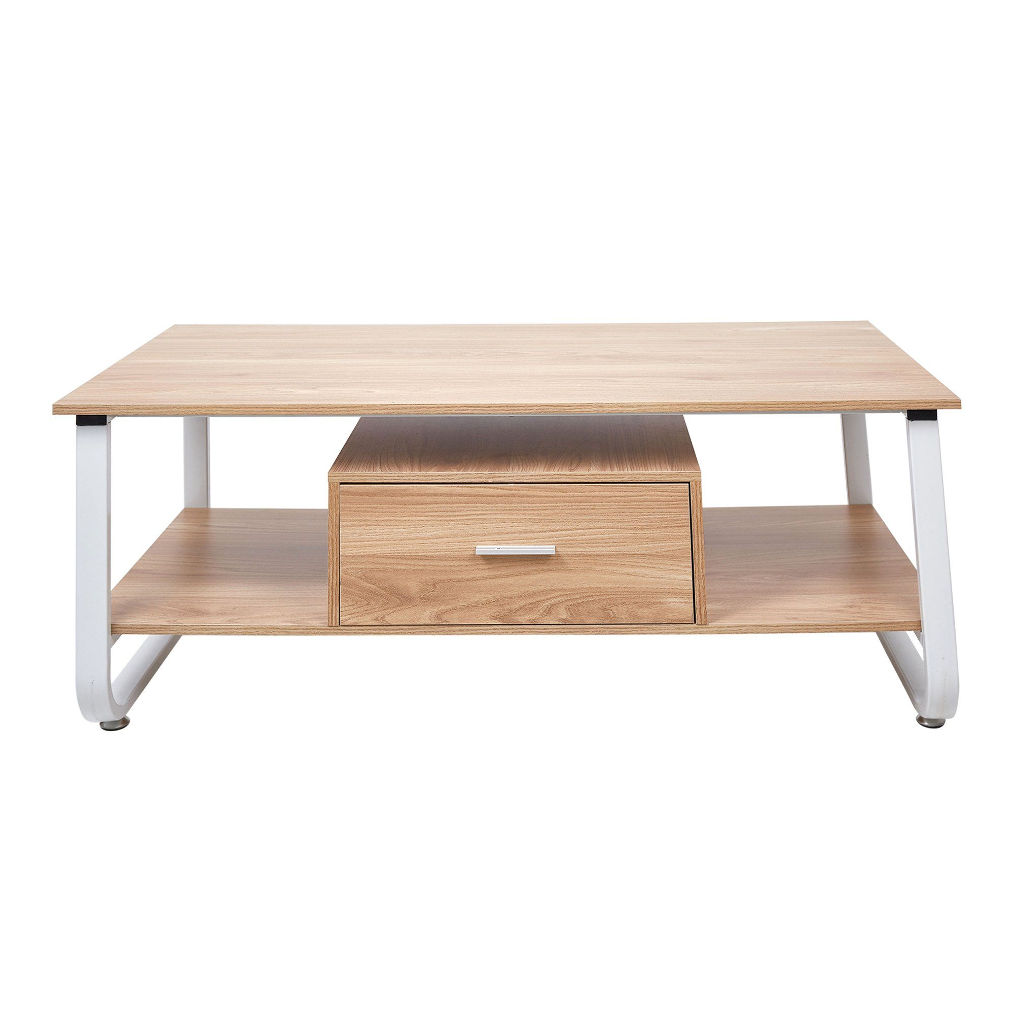 Lucky Tree 47a Long Coffee Table With Storage Drawer 2tier Modern Coffee Desk For Living Room Oak Y Coffee Table Solid Wood Coffee Table Long Coffee Tables [ 2000 x 2000 Pixel ]