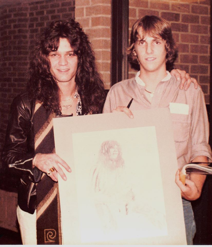 Drawing Van Halen Eddie Van Halen Rock Bands
