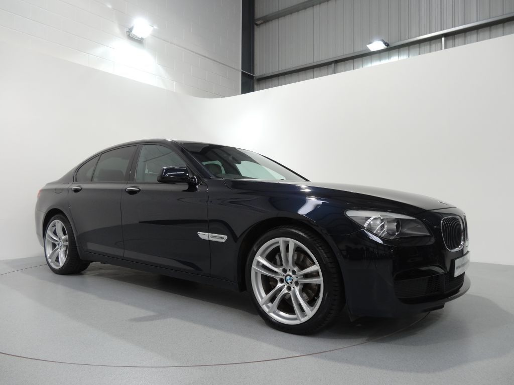 bmw 740d m sport finished in carbon black with oyster leather
