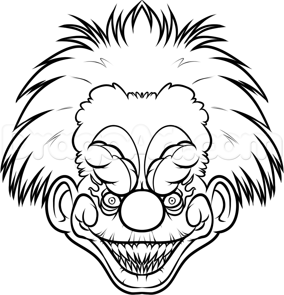 how to draw a killer klown step 10 | Drawing Inspiration ...