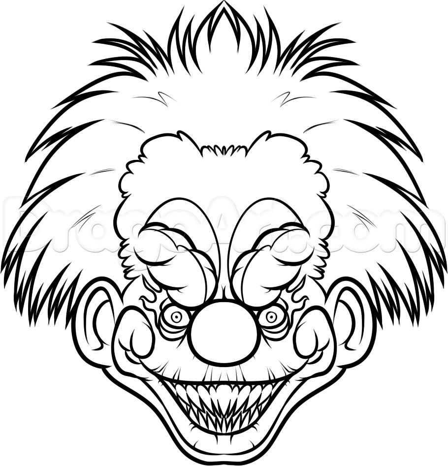 horror clown bilder zum ausmalen  malvorlagen