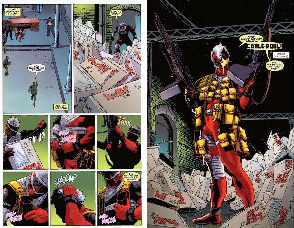 Cable Pool Deadpool Marvel New Mutants 98