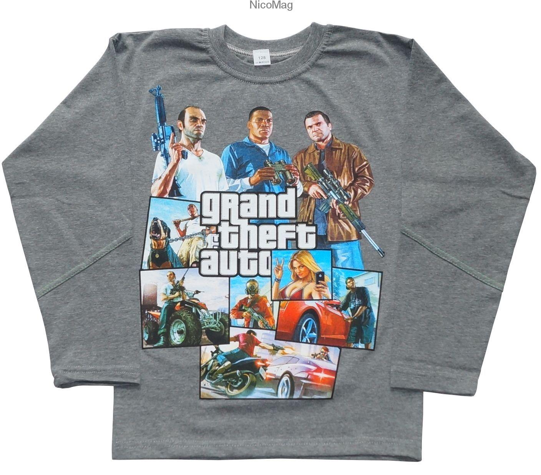 Bluzka Gta V 2 Nadruki Chlopiec Sweatshirts Sweaters Fashion