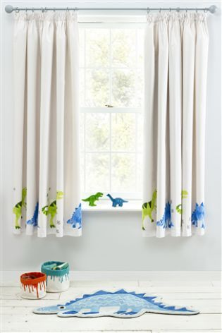 ben the dino pencil pleat curtains big boy rooms curtains rh pinterest nz
