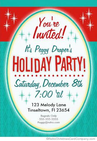 mid century modern christmas party invitations Archives Retro