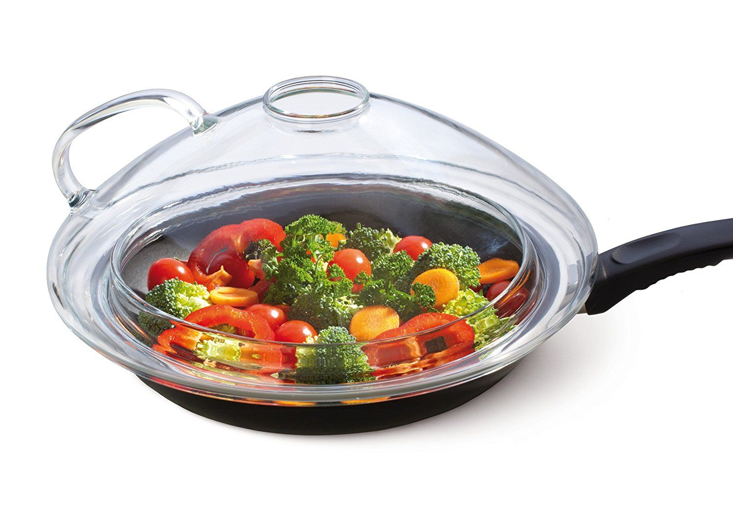 Cookware gt see more select by calphalon ceramic nonstick 8 inch an - Simax Glassware Universal Lid For 9 5 To 11 Inch Pans Clear See