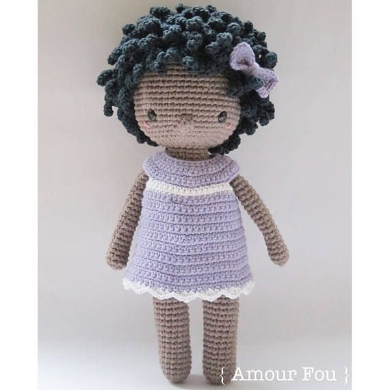 Coralie - Crochet Pattern by {Amour Fou} | Muñeca amigurumi y Muñecas