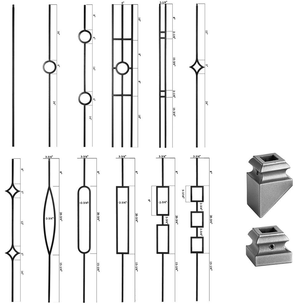 Best Details About Ash Grey Modern Aalto Iron Balusters 400 x 300