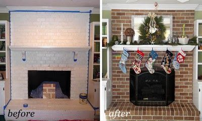 Living Room and my Painting a Brick Fireplace – From White to Beautiful Brownstone | Pretty Handy Girl