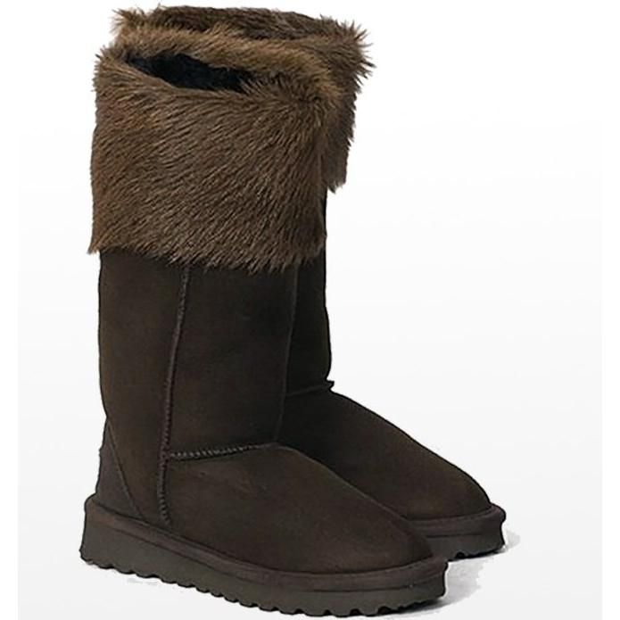 Celtic and Co. Cabra Sheepskin Boots in Mocca as seen on Kate Middleton