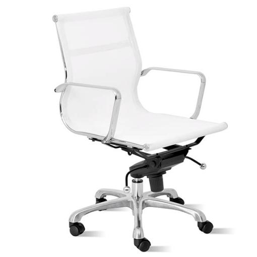 Silla de oficina de #diseño Capri blanca | Sillas de oficina | Chair ...