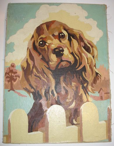 Paint By Numbers Painting Spaniel Art
