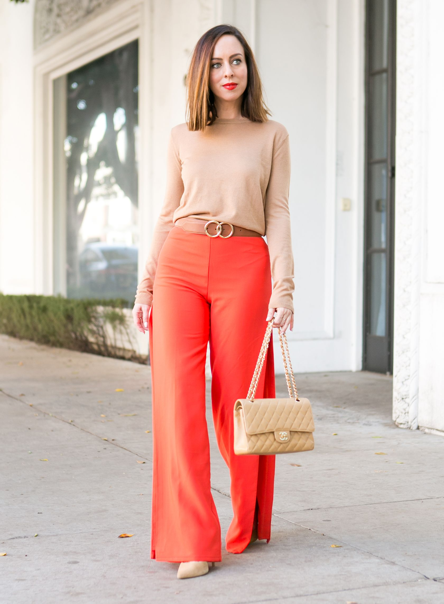 008fd389d041 Sydne Style shows how to belt pants in gold gucci dupe
