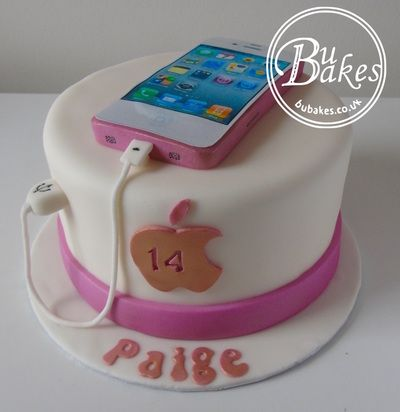 Iphone themed birthday cake which actually talks See httpswww