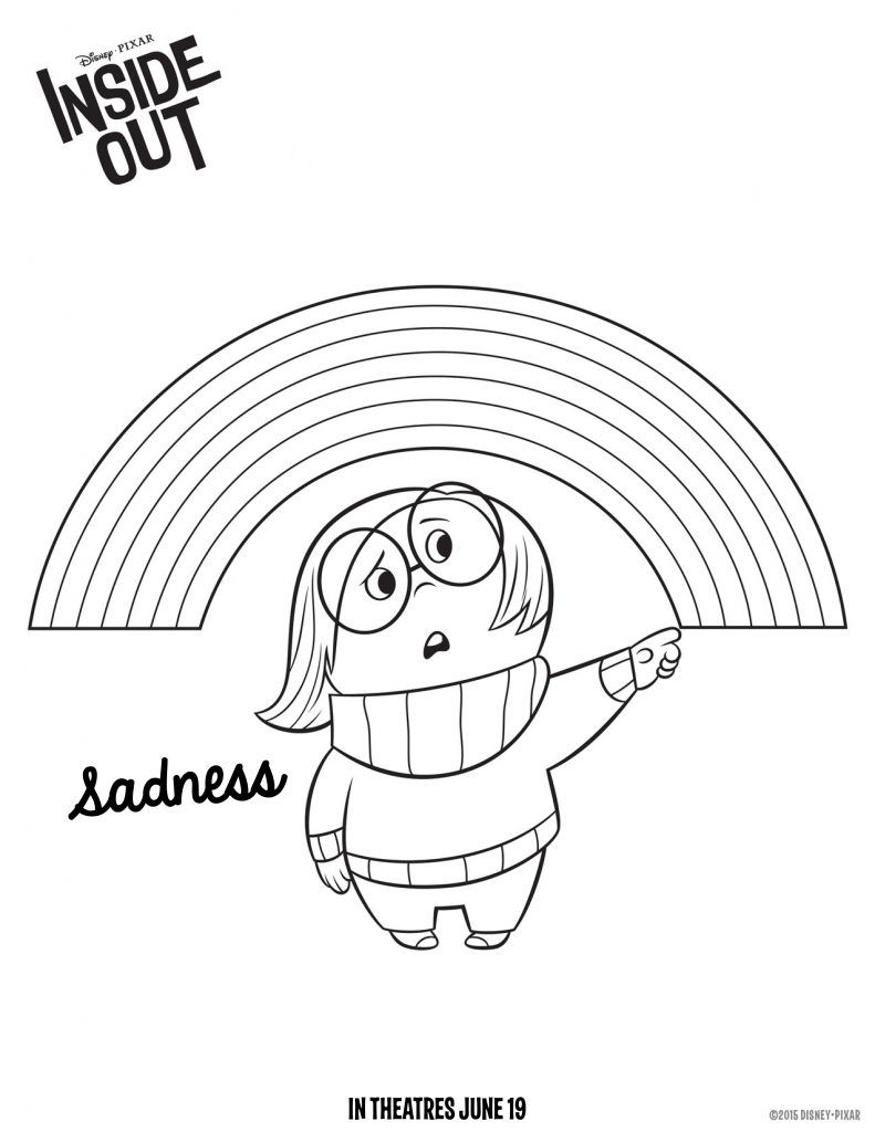 inside out coloring pages - Inside Out Coloring Book