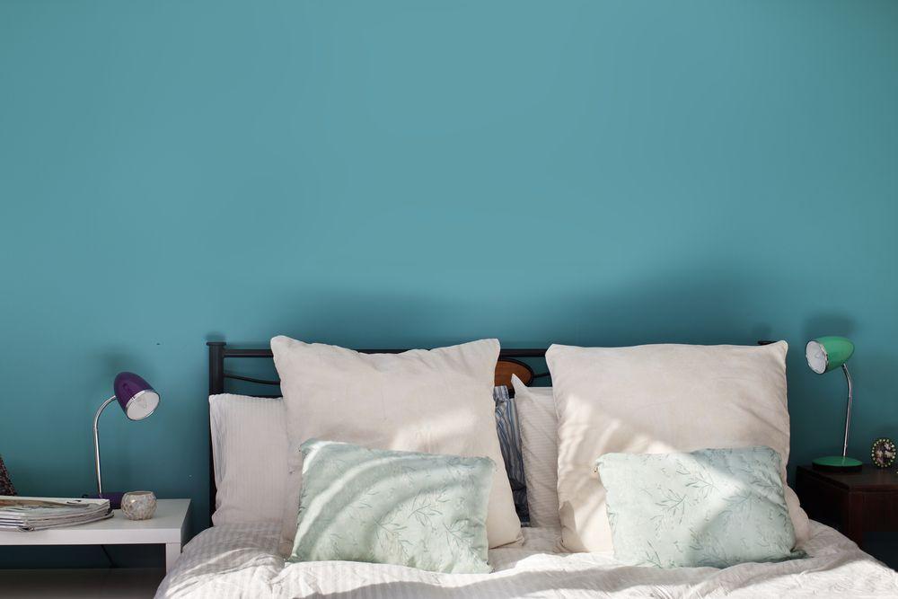 Wohnzimmer und Schlafzimmer in Blau - Türkis | Dekodieren ...