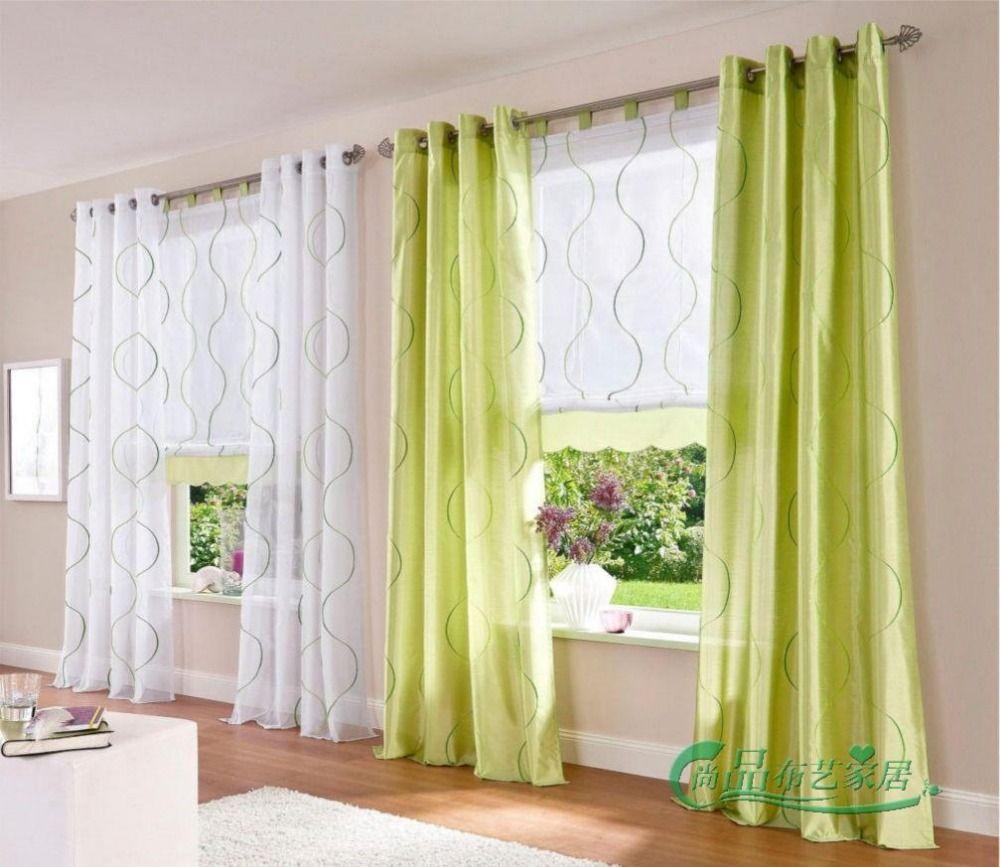 Barato nova terminado cortinas para as janelas gaze voile for Cortinas para salon