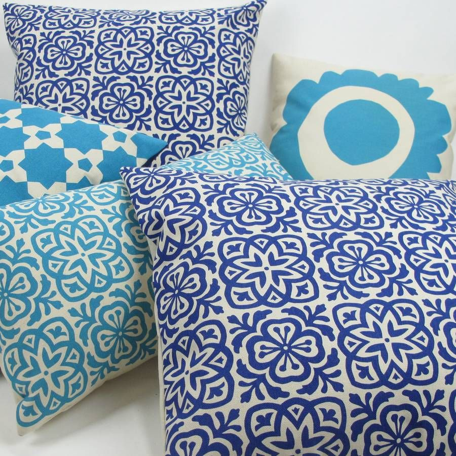 Moroccan Tile Square Cushion Cover