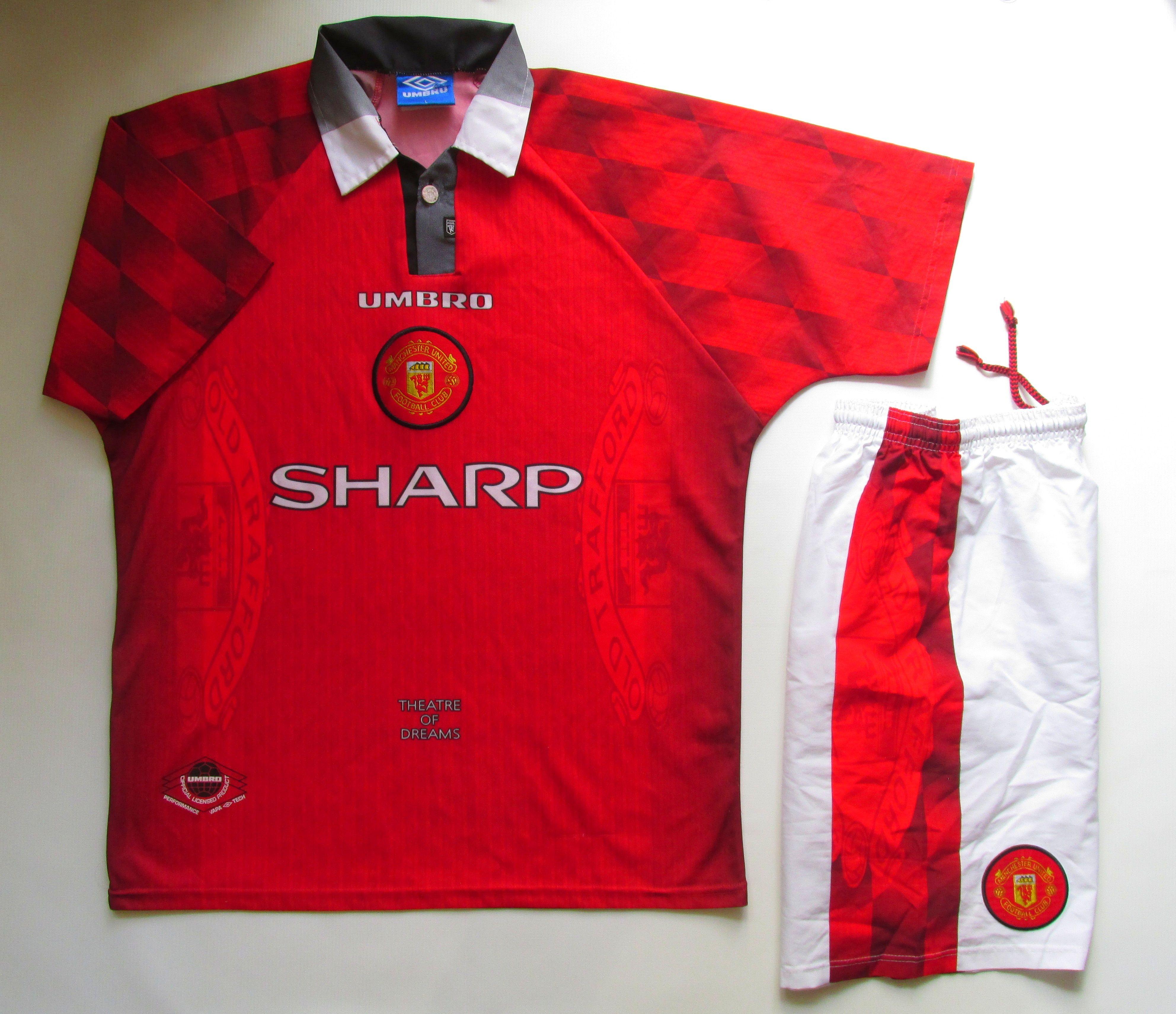 Manchester United 1996 1997 Home Football Kit