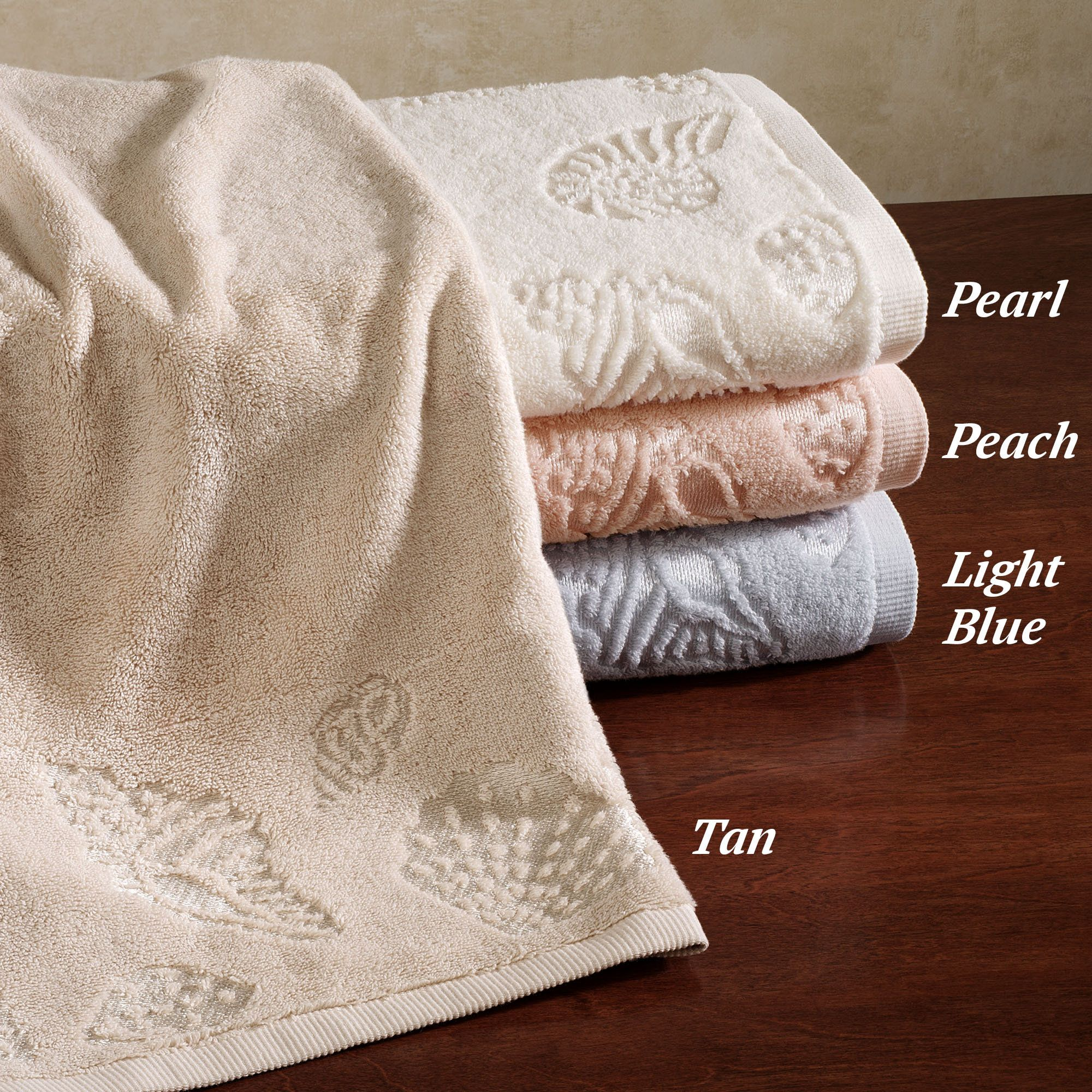 Lenox Seaside Embellished Seashell Bath Towels With Images