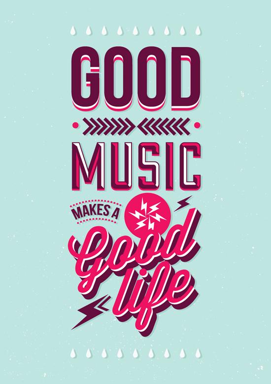 Good Music Typography Graphic Design