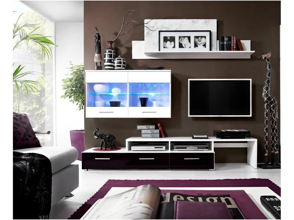 Sobre Et Moderne Meubles Tv Design Pinterest # Meuble Tv Violet