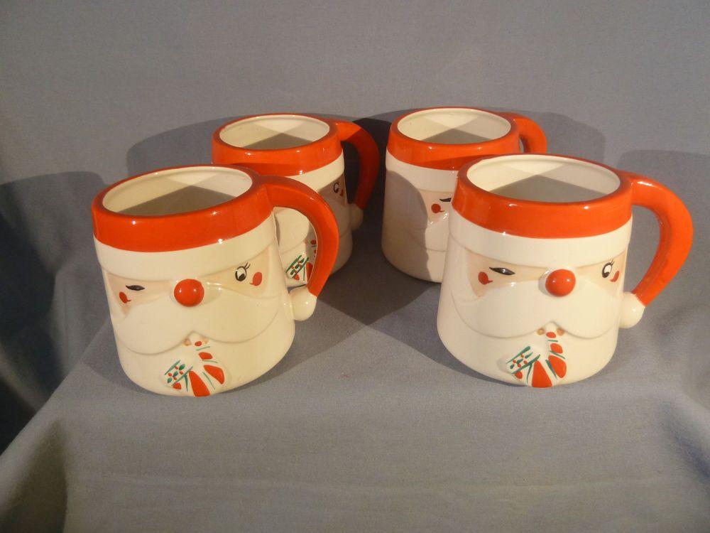 Shafford Japan James R Summers Designs Set 4 Santa Mugs