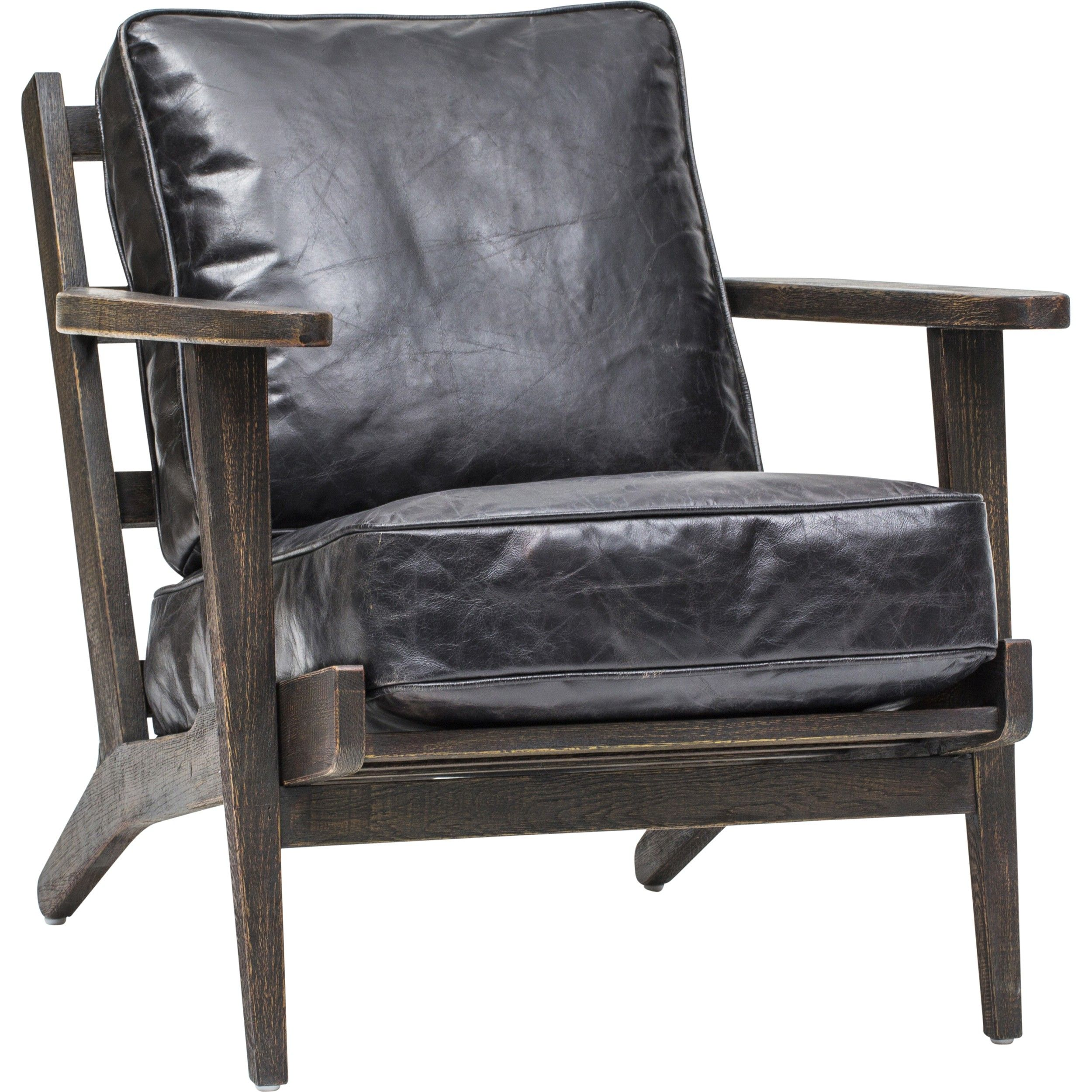 Brooks Leather Lounge Chair Ebony Furniture New House