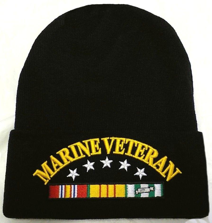 1d41ffece29 U.S. MARINE CORPS USMC VIET NAM VIETNAM VETERAN VET WATCH CAP BEANIE KNIT HAT  OS  PREMIUMHATS  BallCap